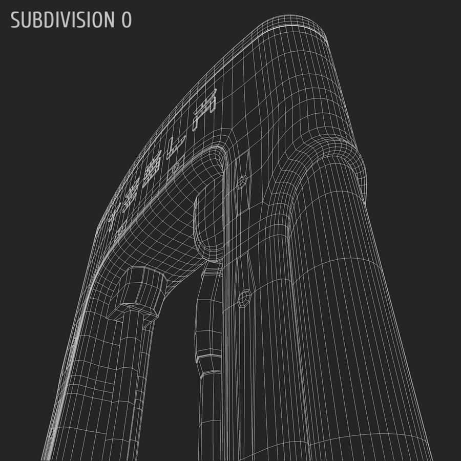 Tesla Supercharger station royalty-free 3d model - Preview no. 11