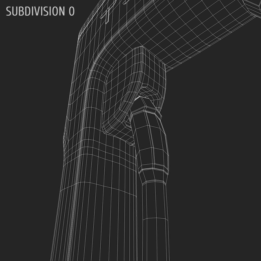 Tesla Supercharger station royalty-free 3d model - Preview no. 7