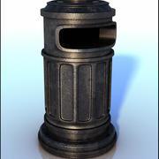 欧洲垃圾桶 3d model