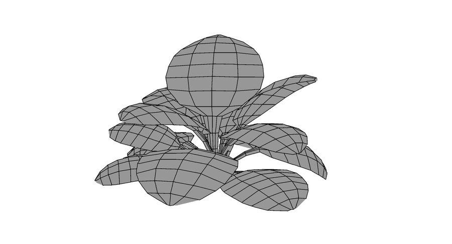 Fern Monstera Cartoon royalty-free 3d model - Preview no. 6