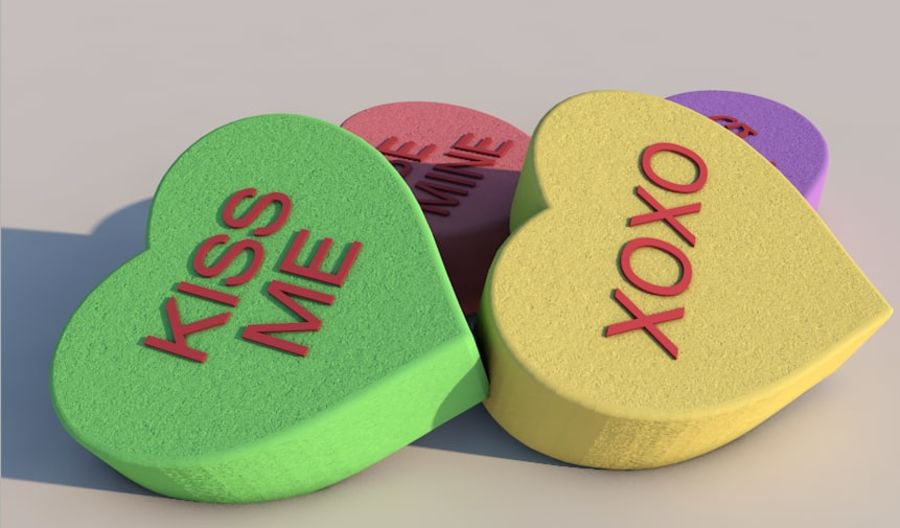 Heart Candy royalty-free 3d model - Preview no. 5