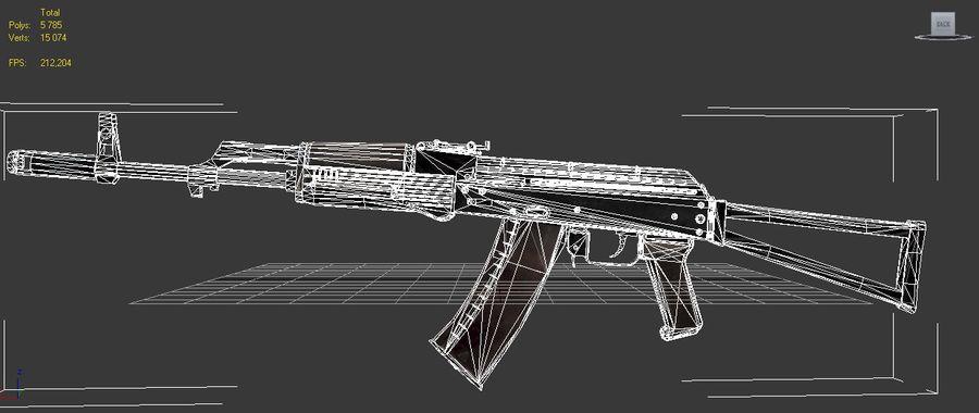 AKC-74 royalty-free 3d model - Preview no. 10