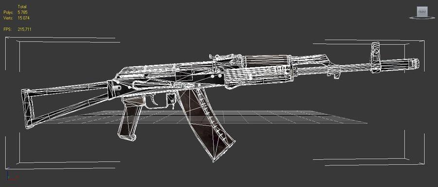 AKC-74 royalty-free 3d model - Preview no. 8