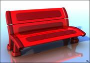 Assento de banco de plástico 3d model