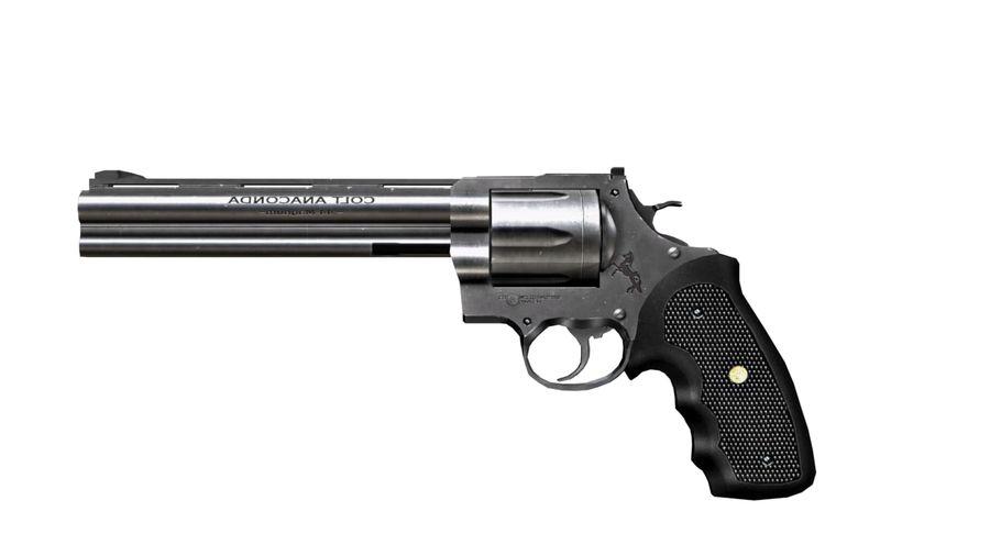 Colt Anaconda royalty-free 3d model - Preview no. 1