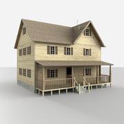 lantlig hus tillgång 3d model