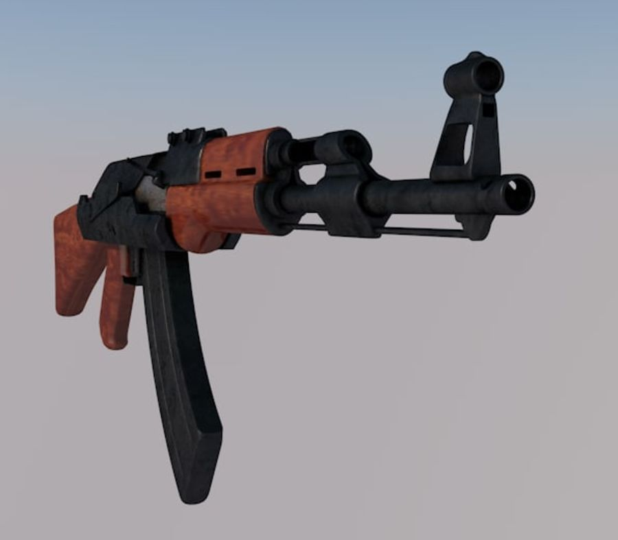 AK 47 royalty-free 3d model - Preview no. 7