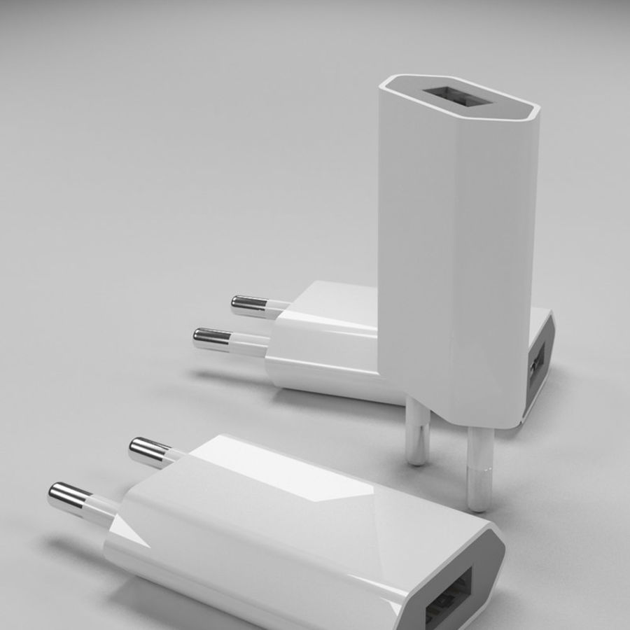 apple charger royalty-free 3d model - Preview no. 3