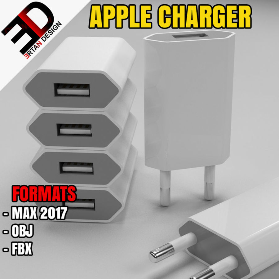apple charger royalty-free 3d model - Preview no. 1