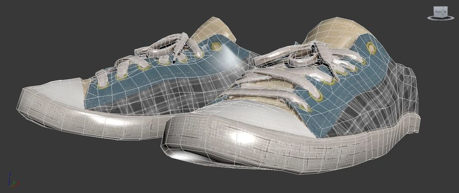 Кроссовки High Poly royalty-free 3d model - Preview no. 6