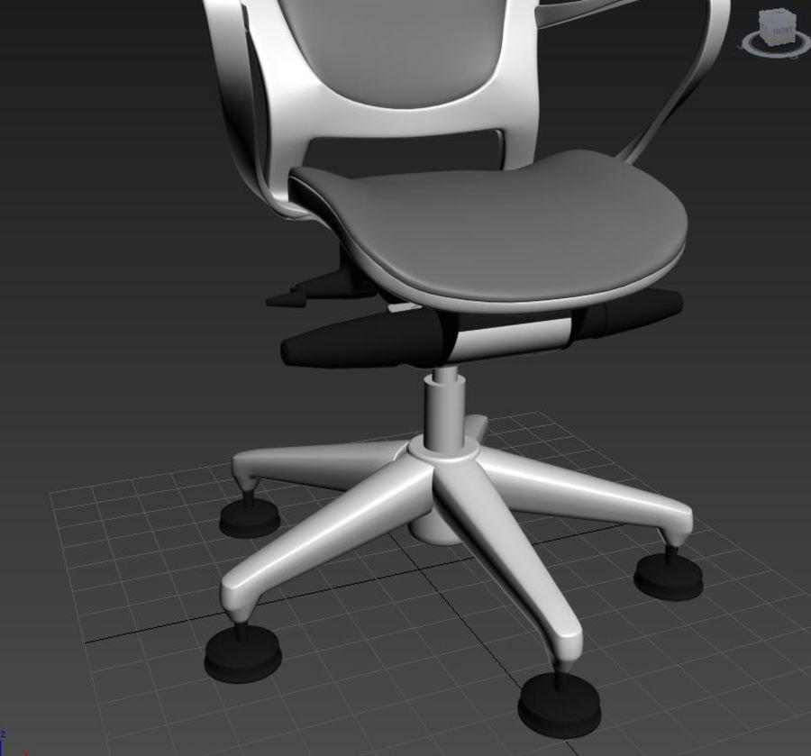 Scène de studio avec des chaises de bureau royalty-free 3d model - Preview no. 3
