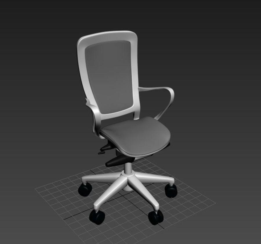 Scène de studio avec des chaises de bureau royalty-free 3d model - Preview no. 2
