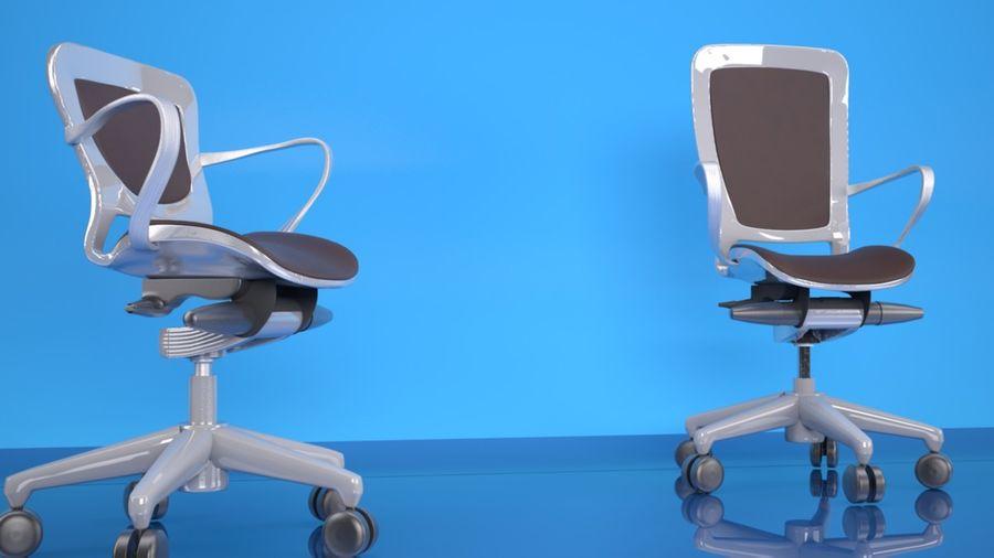 Scène de studio avec des chaises de bureau royalty-free 3d model - Preview no. 1