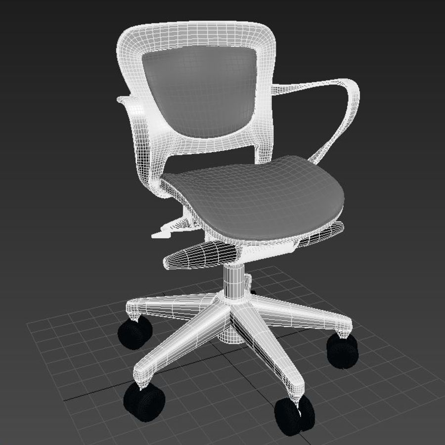 Scène de studio avec des chaises de bureau royalty-free 3d model - Preview no. 4