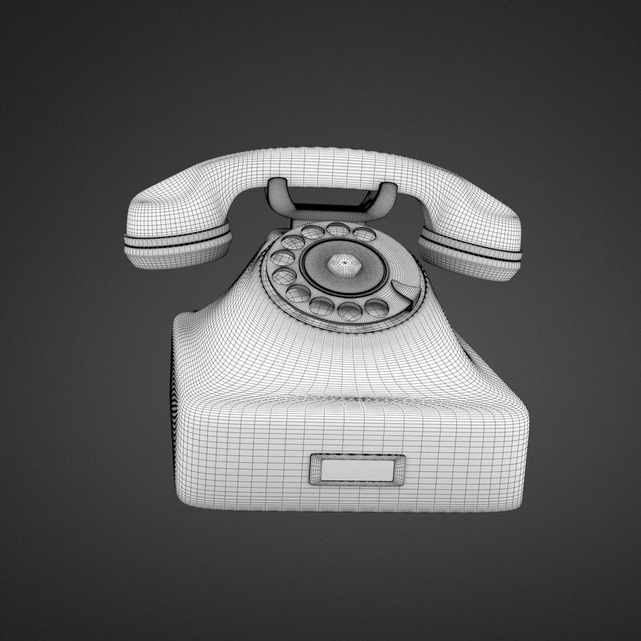 Teléfono rotativo royalty-free modelo 3d - Preview no. 4