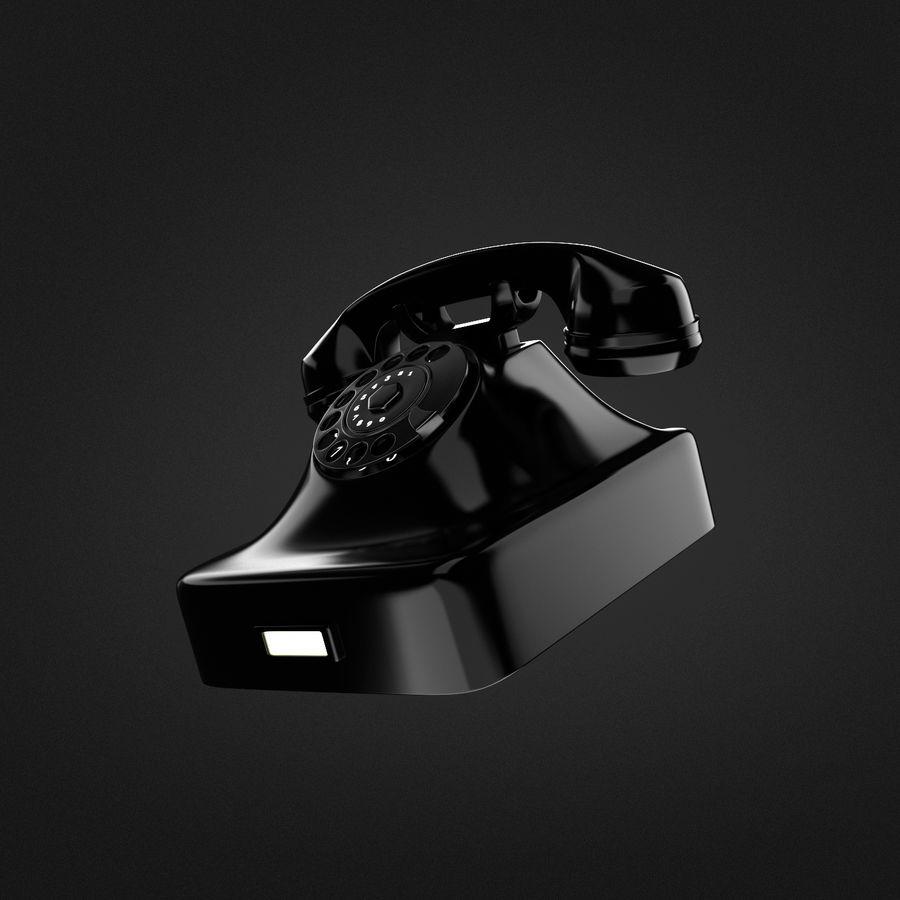 Teléfono rotativo royalty-free modelo 3d - Preview no. 2