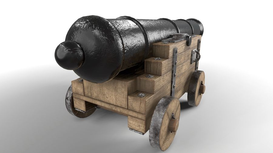 Antique Cannon - Pirate Cannon royalty-free 3d model - Preview no. 4