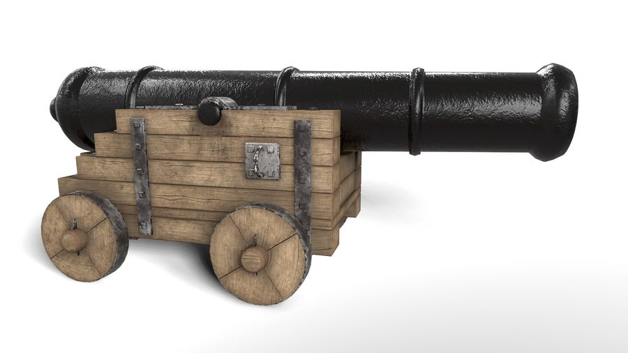 Antique Cannon - Pirate Cannon royalty-free 3d model - Preview no. 2