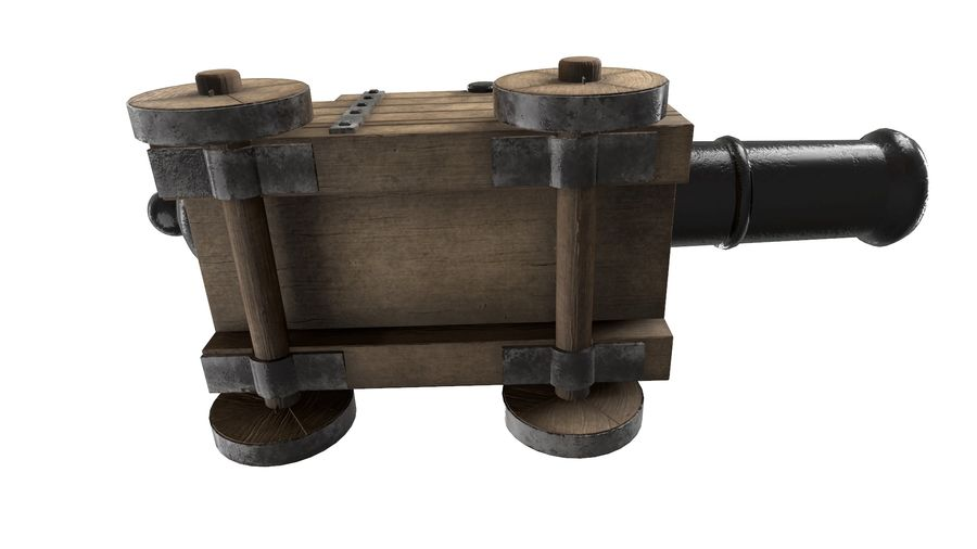 Antique Cannon - Pirate Cannon royalty-free 3d model - Preview no. 5
