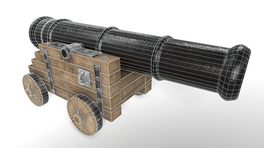 Antique Cannon - Pirate Cannon royalty-free 3d model - Preview no. 6