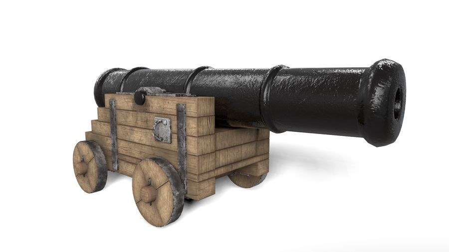 Antique Cannon - Pirate Cannon royalty-free 3d model - Preview no. 1
