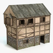 Mittelalterliches Haus 1 3d model