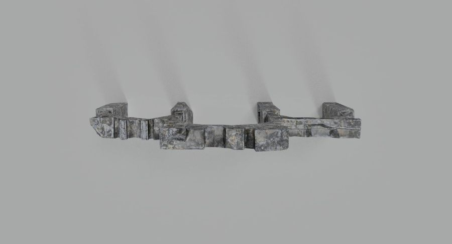 Verpletterde bogen royalty-free 3d model - Preview no. 5