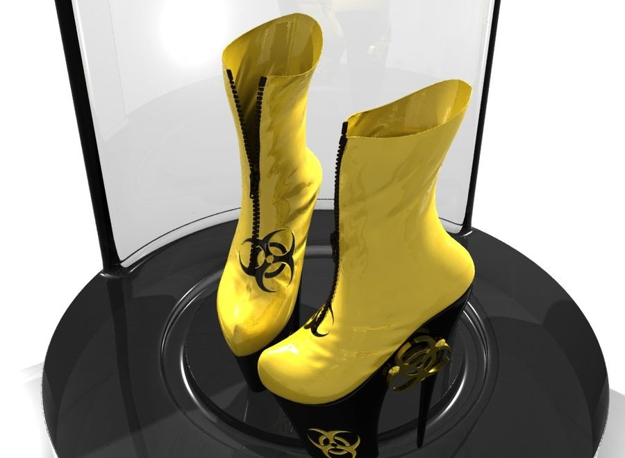 biohazard_shoe royalty-free 3d model - Preview no. 3