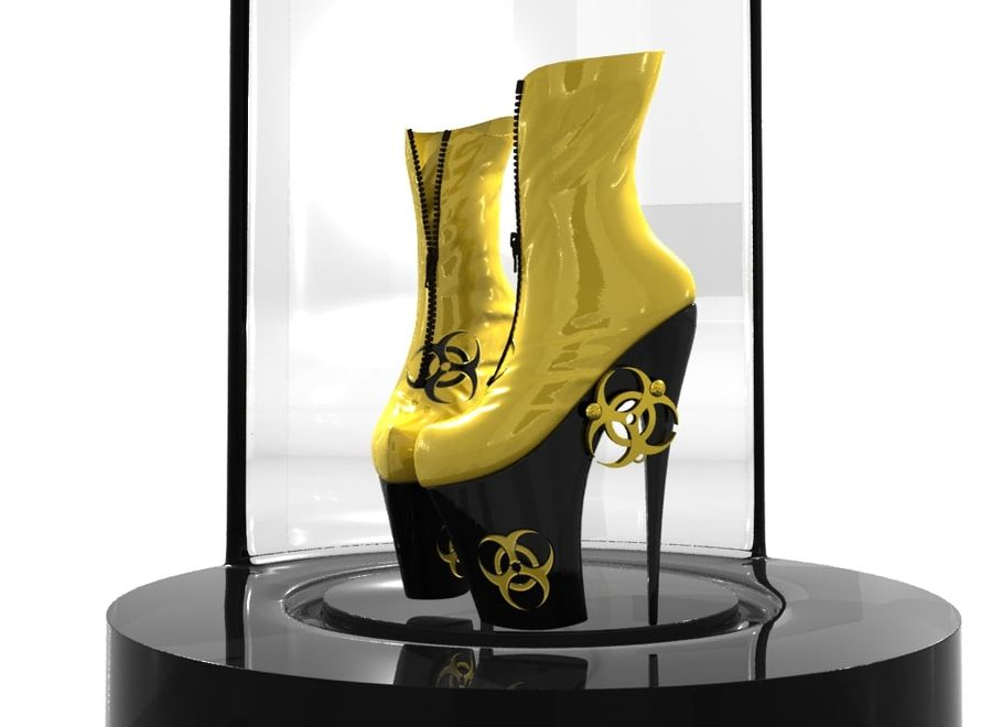 biohazard_shoe royalty-free 3d model - Preview no. 1