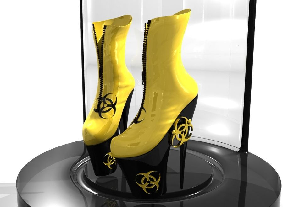 biohazard_shoe royalty-free 3d model - Preview no. 2