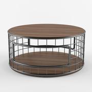 宜居线框咖啡桌 3d model