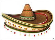 멕시코 모자 만화 3d model