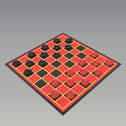 checkers 3d model