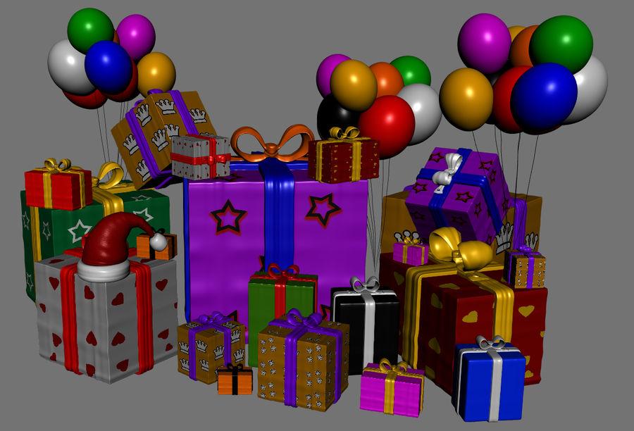 パイルプレゼントギフト royalty-free 3d model - Preview no. 2