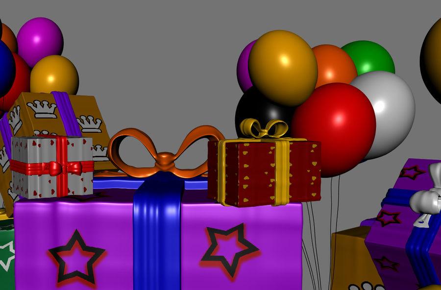 パイルプレゼントギフト royalty-free 3d model - Preview no. 6