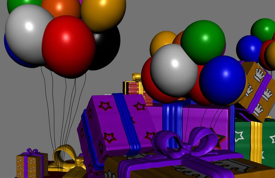 パイルプレゼントギフト royalty-free 3d model - Preview no. 7
