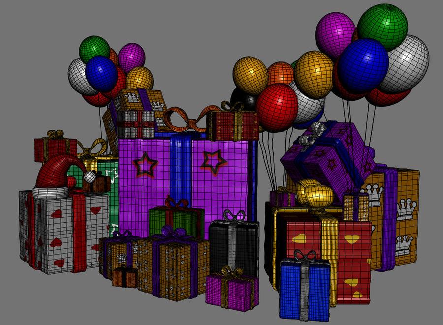 パイルプレゼントギフト royalty-free 3d model - Preview no. 10