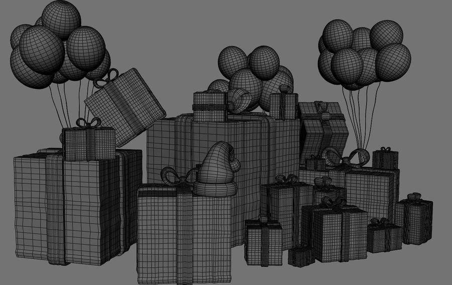 パイルプレゼントギフト royalty-free 3d model - Preview no. 9