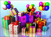 Pile Present Gifts 3d model