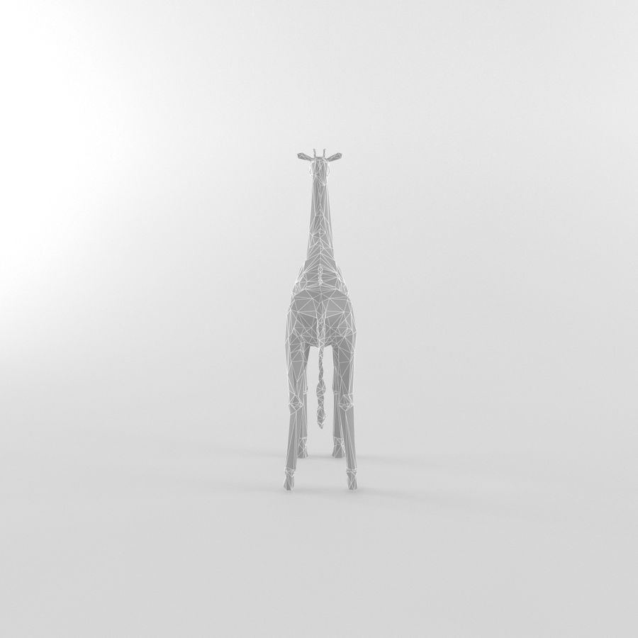 Giraffe Low Poly Mammal African Wild Animal Lowpoly royalty-free 3d model - Preview no. 5