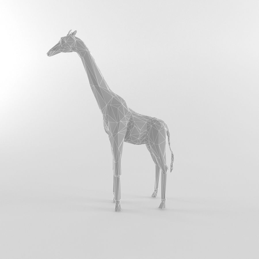 Giraffe Low Poly Mammal African Wild Animal Lowpoly royalty-free 3d model - Preview no. 3