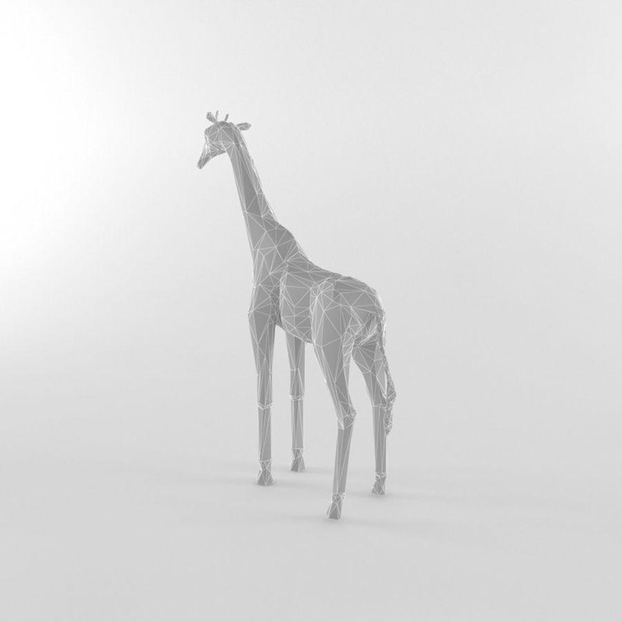 Jirafa Low Poly Mamífero Africano Animal Salvaje Lowpoly royalty-free modelo 3d - Preview no. 4
