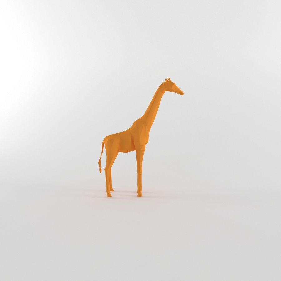 Giraffe Low Poly Mammal African Wild Animal Lowpoly royalty-free 3d model - Preview no. 7