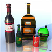 Flaskor tecknad 3d model