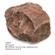 拥有4个LOD的岩石(#01) 3d model