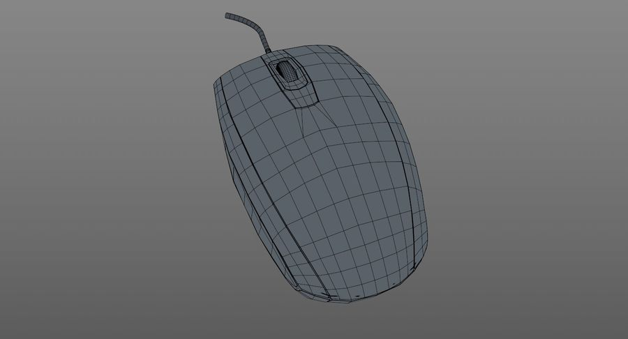 HP Mouse royalty-free 3d model - Preview no. 10