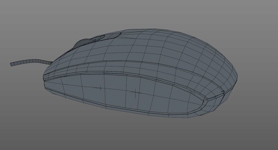 HP Mouse royalty-free 3d model - Preview no. 11