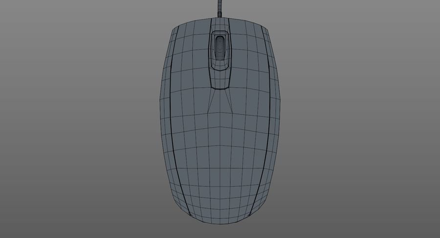 HP Mouse royalty-free 3d model - Preview no. 13