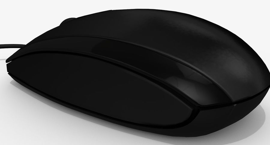 HP Mouse royalty-free 3d model - Preview no. 9