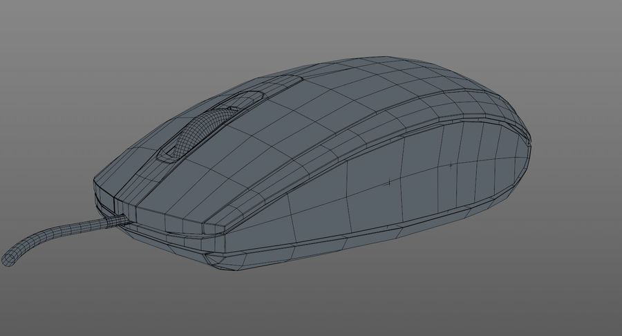 HP Mouse royalty-free 3d model - Preview no. 12